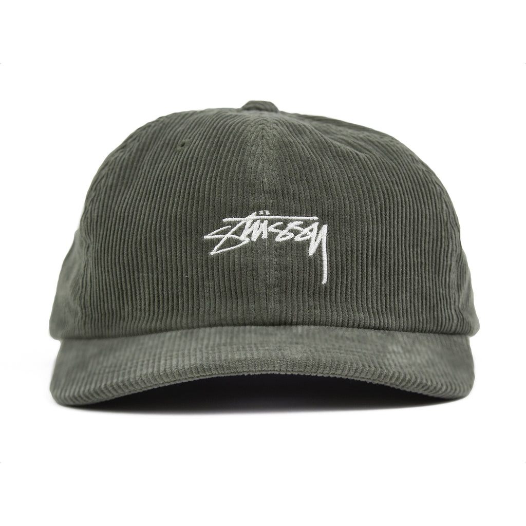 Stussy Corduroy Low Pro Cap in Green - Front
