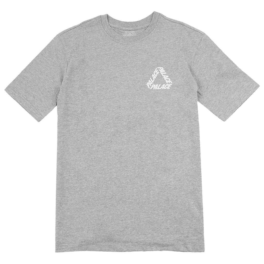 Palace P 3 T Shirt in Grey Marl / White