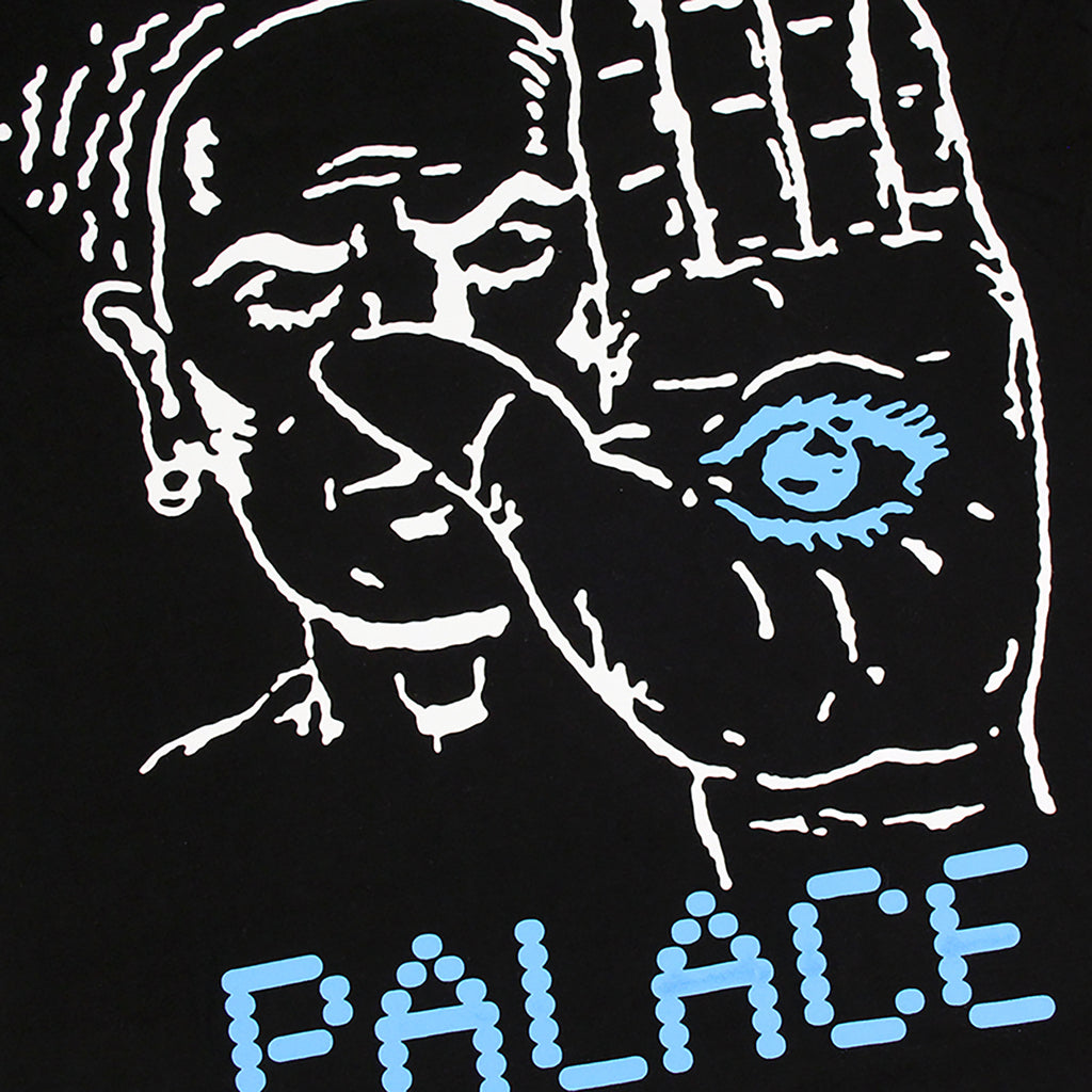 Palace Talk To The Hand T Shirt in Black - Print