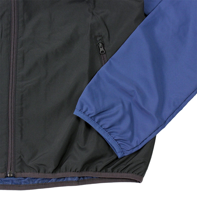 Adidas Skateboarding ADV Wind Jacket in Ash Blue/Collegiate Navy - Sleeve Detail