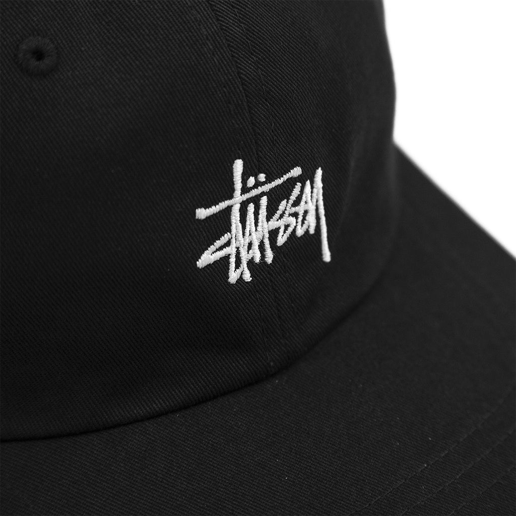 Stussy Stock Low Pro Cap in Black - Detail