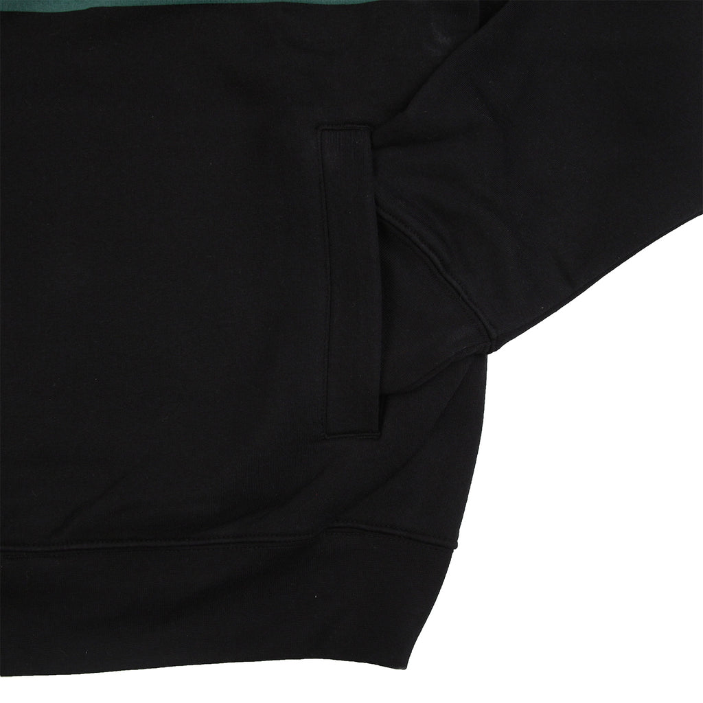 Obey Clothing Gaze Mock Neck Zip Sweatshirt in Black - Cuff