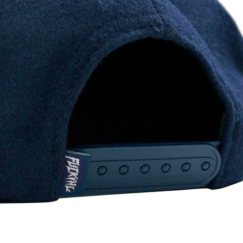 Fucking Awesome Classic Logo Wool Snapback in Navy - Snap Closure