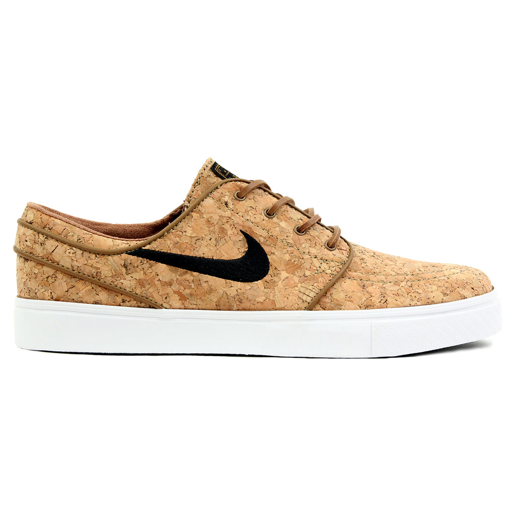 Nike SB Stefan Janoski Elite Cork Shoes - Ale Brown / Black / White