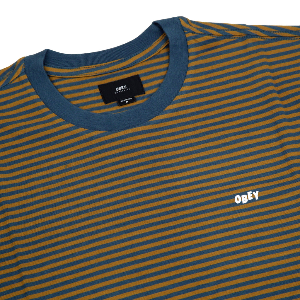 Obey Clothing Apex T Shirt in Tapenade Multi - Detail