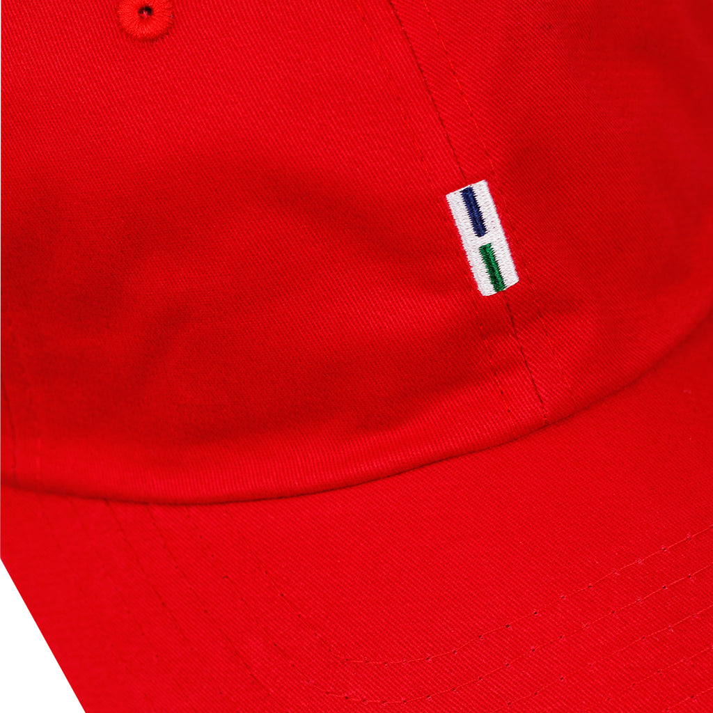 Helas H 6 Panel Cap in Red - Detail