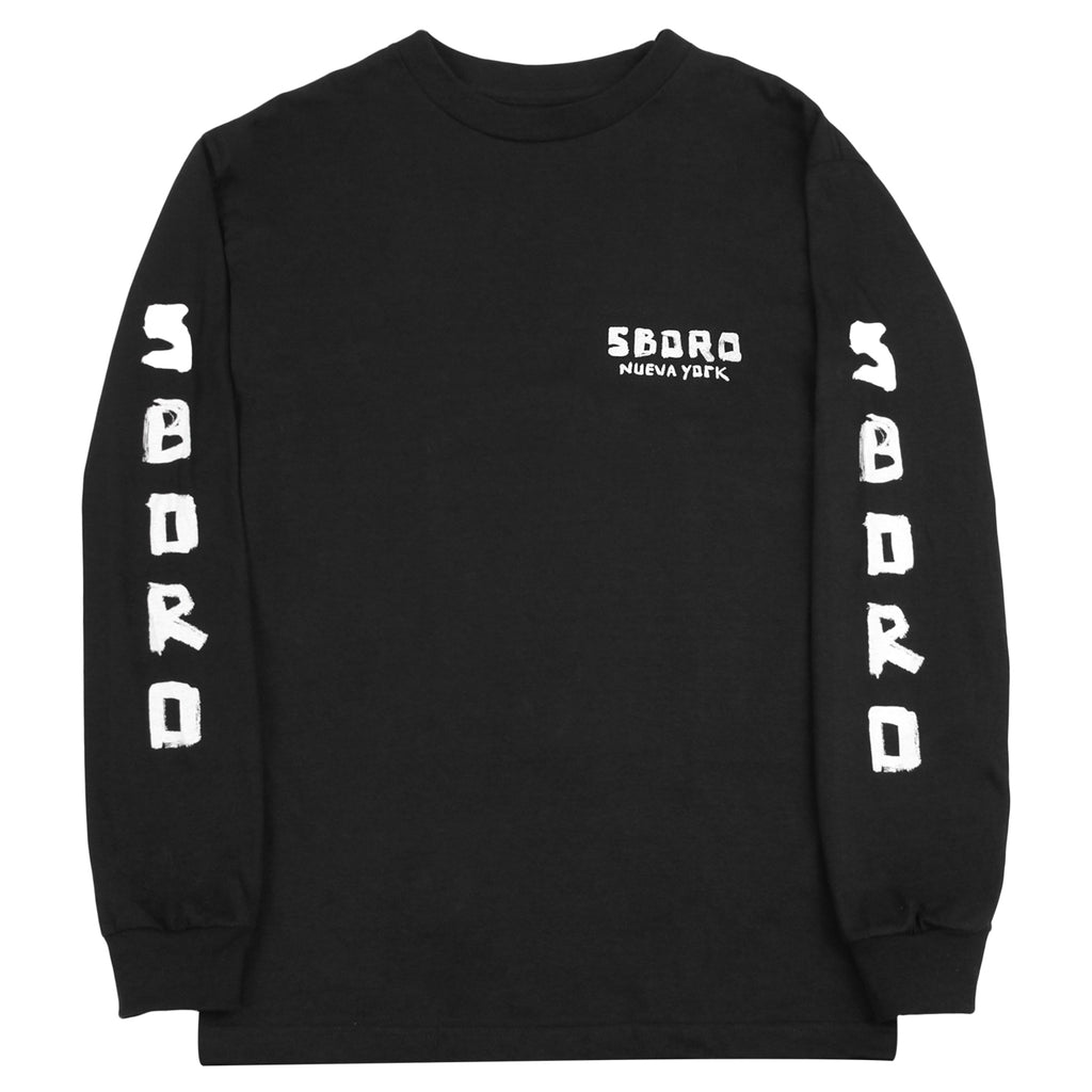 5Boro Chinatown Girl L/S T Shirt in Black - Front