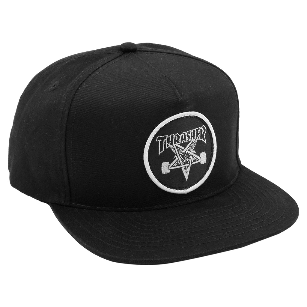 Thrasher Skategoat Snapback Cap in Black