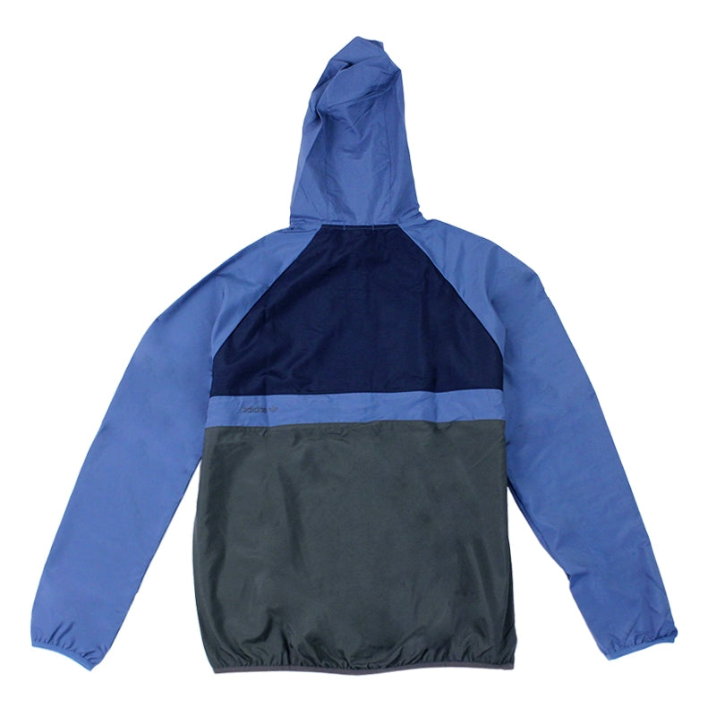 Adidas Skateboarding ADV Wind Jacket in Ash Blue/Collegiate Navy - Back
