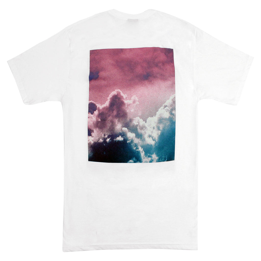 Stussy WT Clouds T Shirt in White - Back