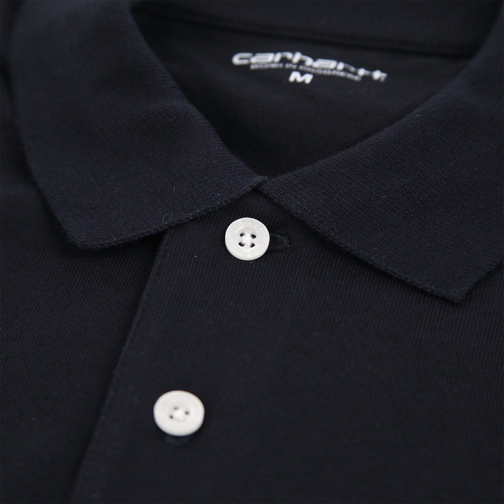 Carhartt Chase Polo Shirt in Dark Navy / Gold - Button