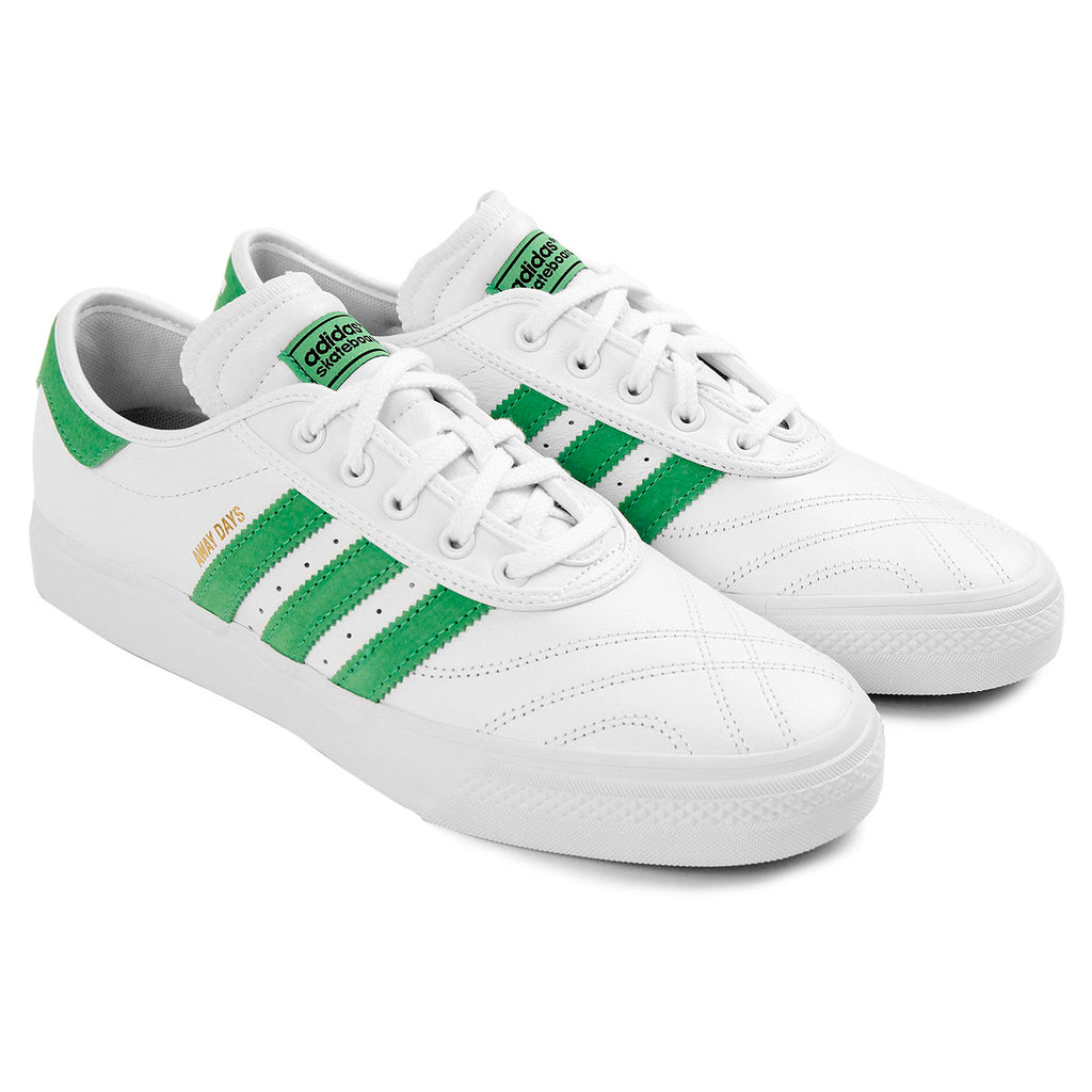 "Adidas Skateboarding Adi Ease Premiere ""Away Days"" Shoes in White / Lime / Gum - Pair"