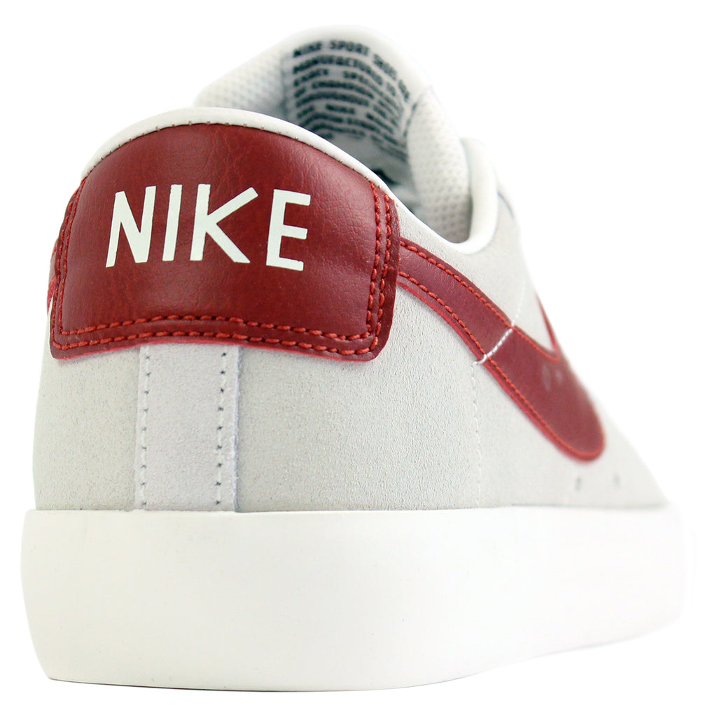 Nike SB Blazer Low Grant Taylor Shoes in Ivory / Cinnabar - Heel