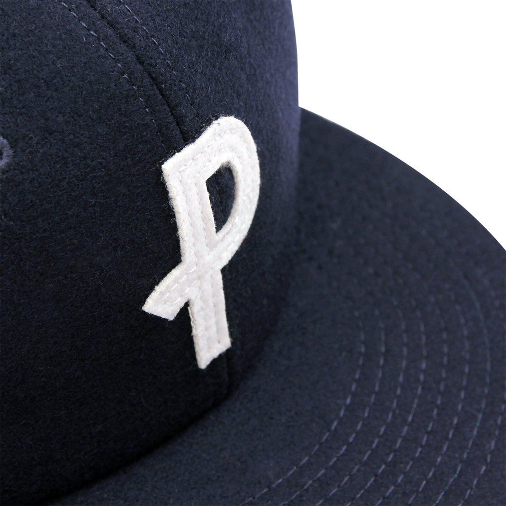 Polar Skate Co P Wool Cap in Navy - Detail