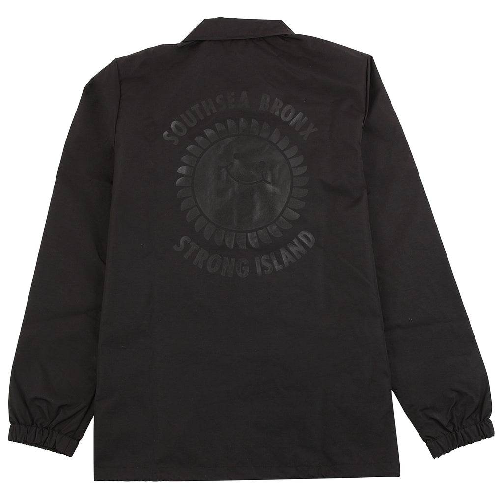 Southsea Bronx Strong Island Coaches Jacket in Black on Black - Back Print