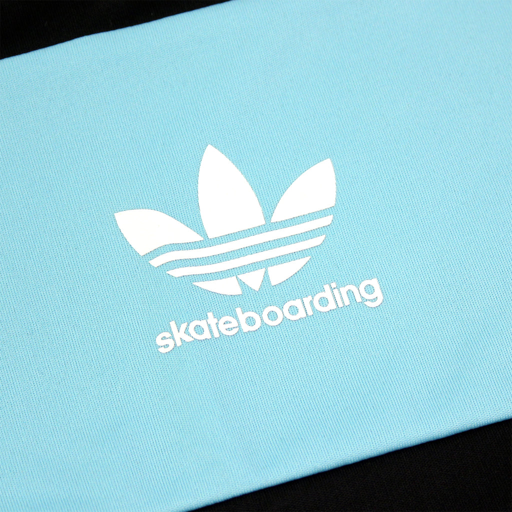 Adidas Skateboarding x Welcome Jersey in Black / Light Aqua - Logo