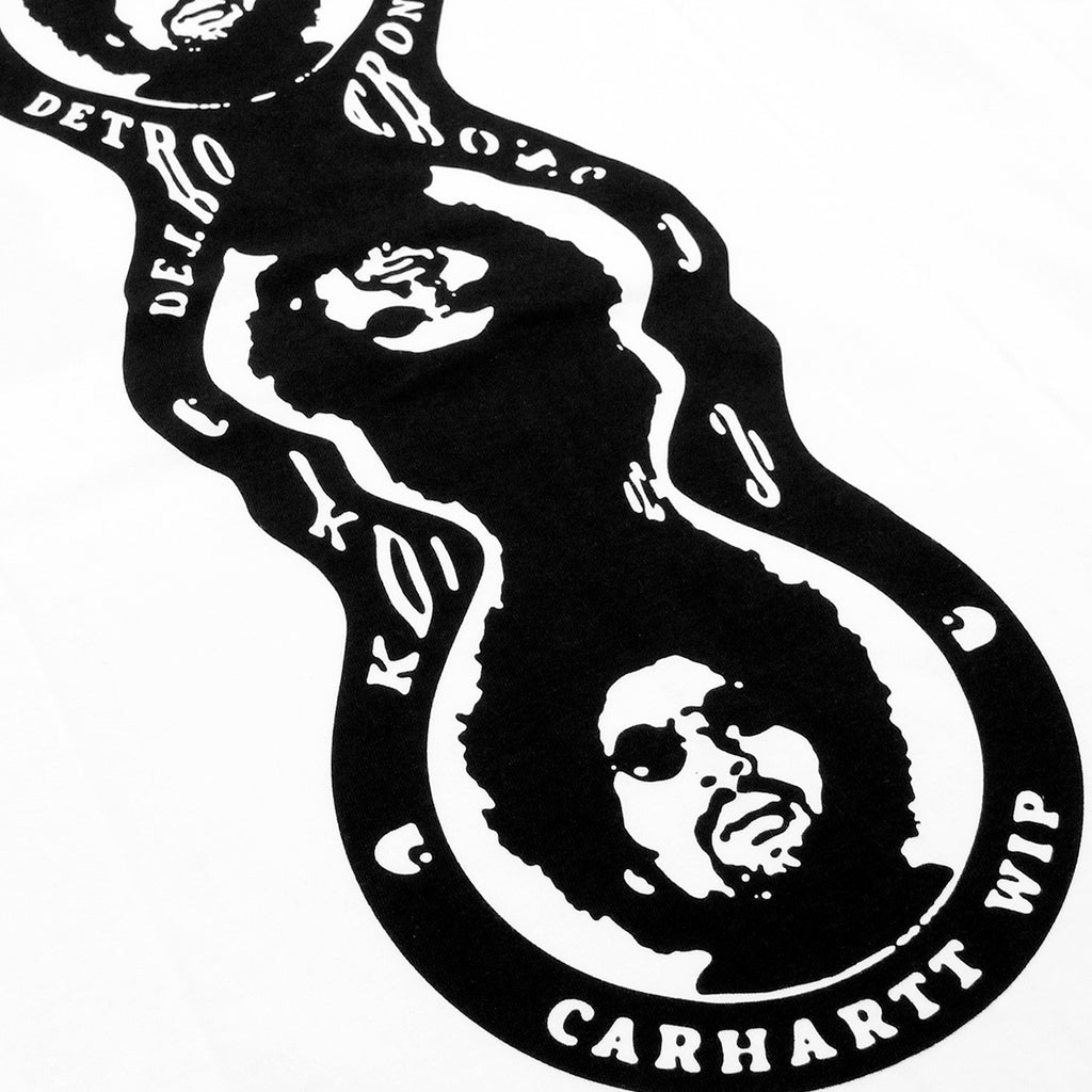 Carhartt WIP MMC Triple Logo T Shirt in White / Black - Print