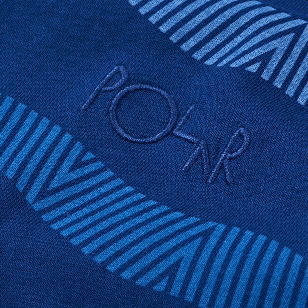 Polar Skate Co Wavy Surf T Shirt in Dark Blue - Detail