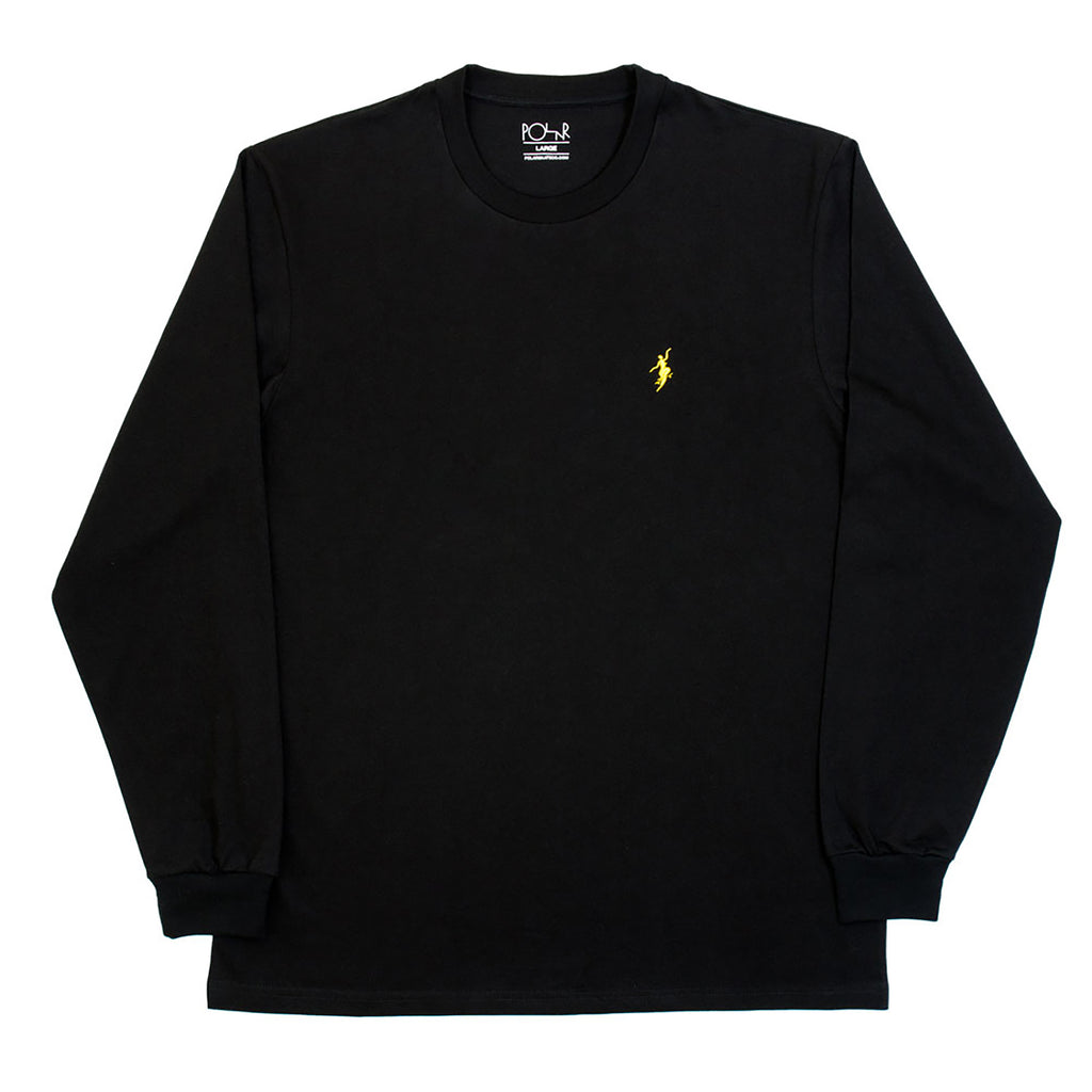 Polar Skate Co No Comply L/S T Shirt in Black / Yellow