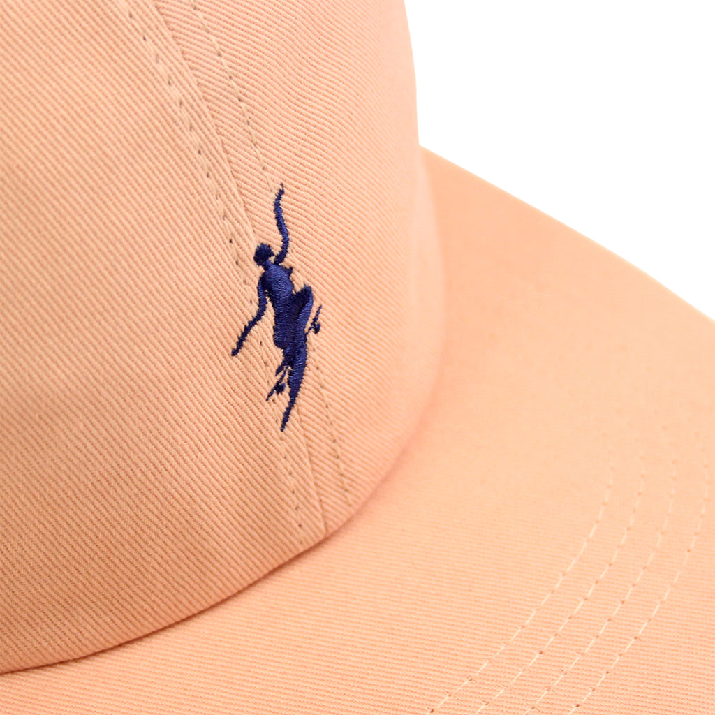 Polar Skate Co No Comply Cap in Peach / Navy - Details