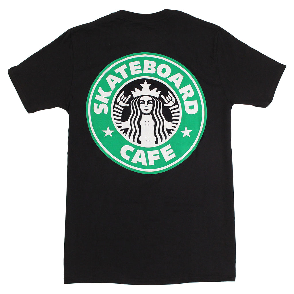 Skateboard Cafe Starfucks T Shirt in Black