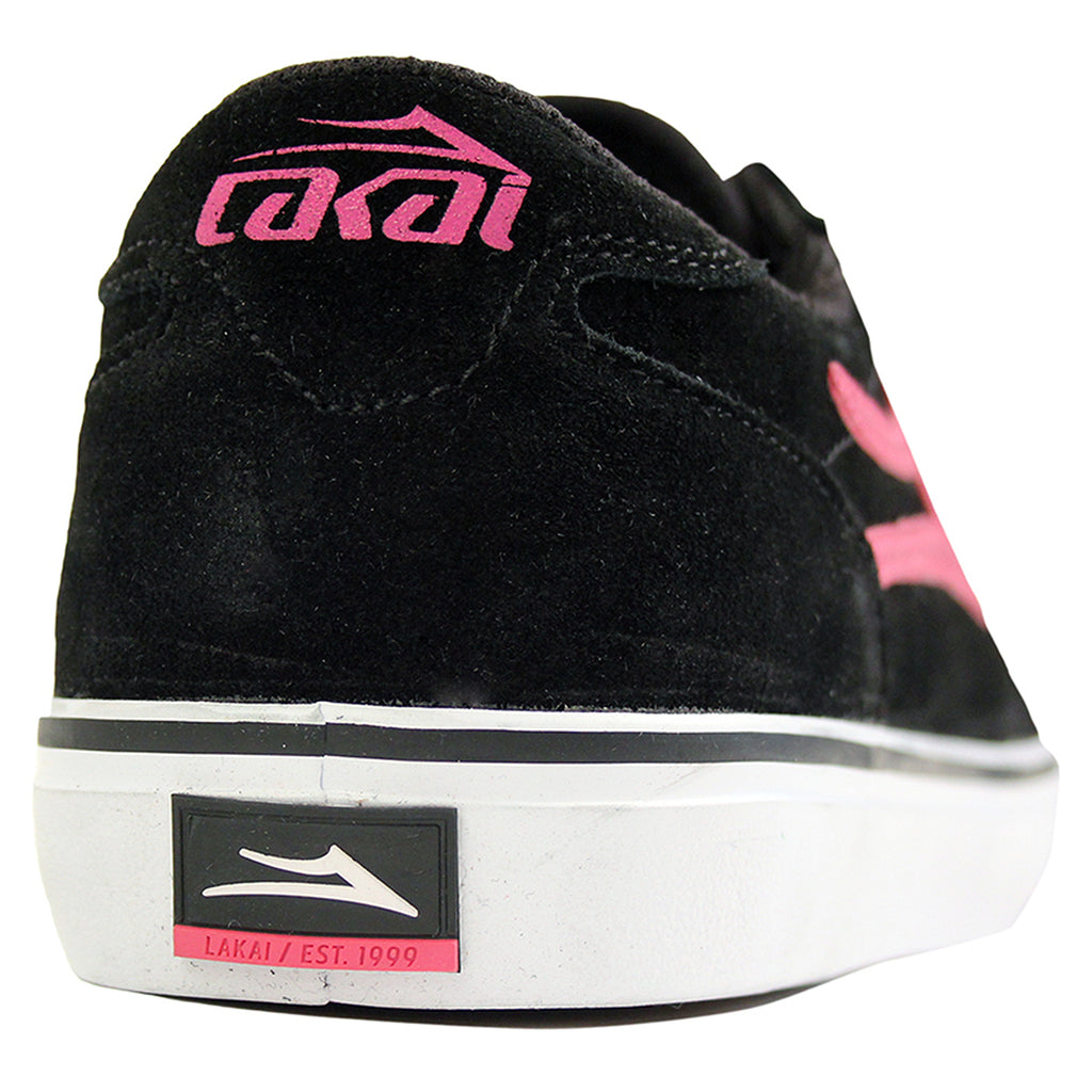 Lakai Manchester McCrank (Anchor) Shoes - Black/Pink - Heel