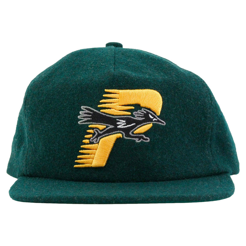 Palace Roadrunner Snapback in Dark Green - Front