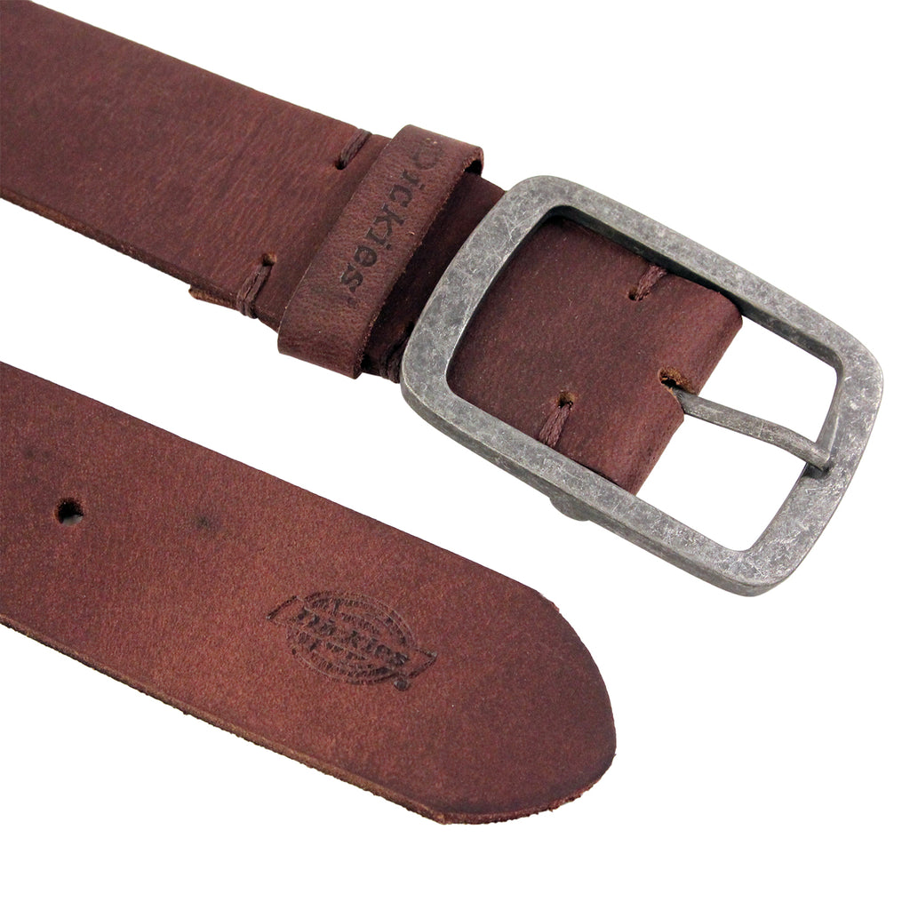Dickies Eagle Lake Leather Belt in Brown - Detail