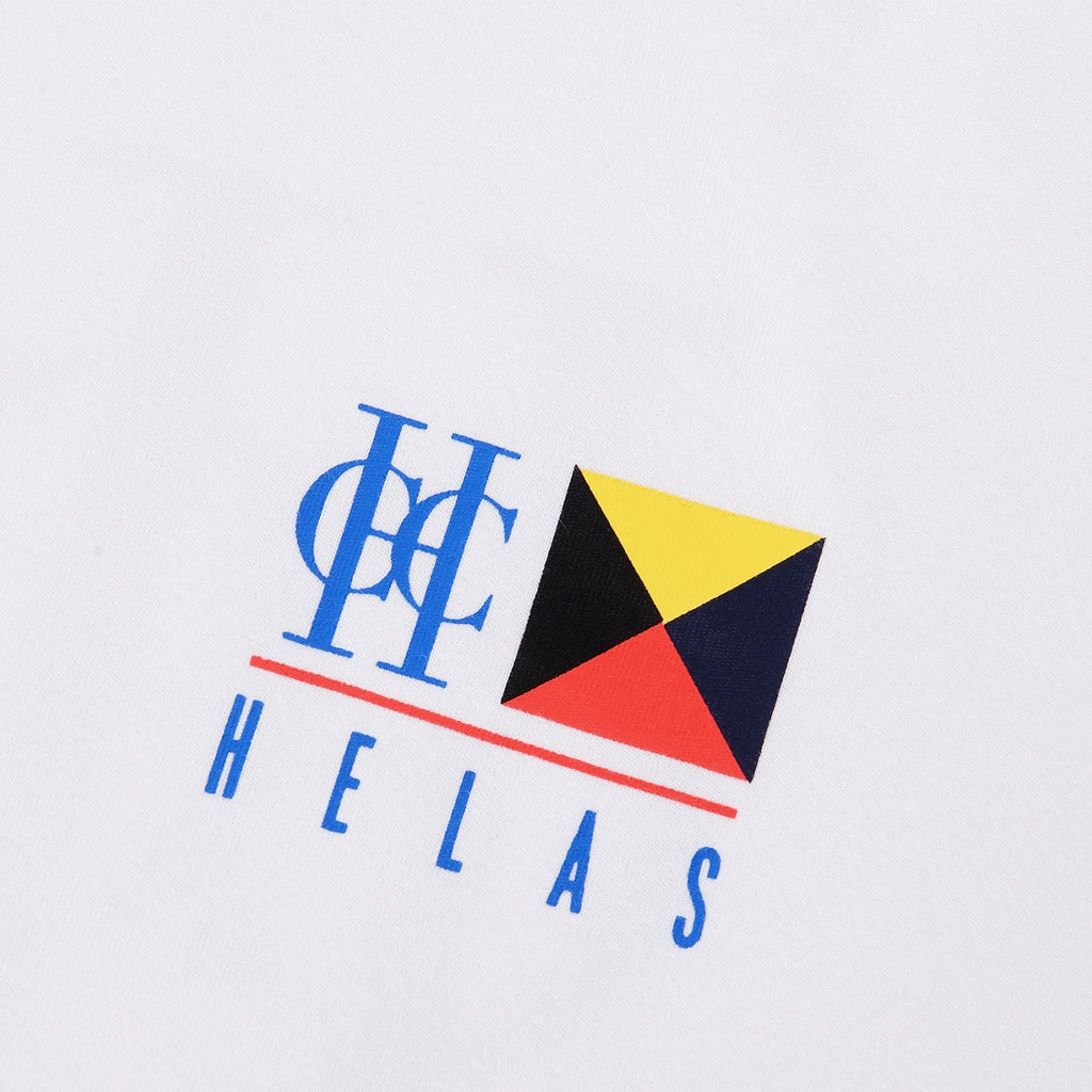 Helas HCC Zulu Cruise L/S T Shirt in White - Print