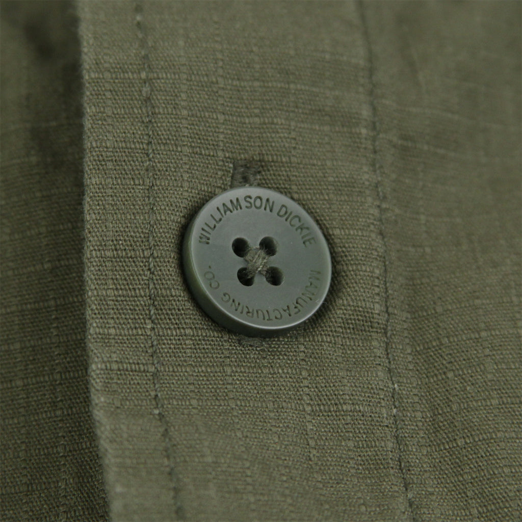 Dickies Kempton Shirt in Dark Olive - Button