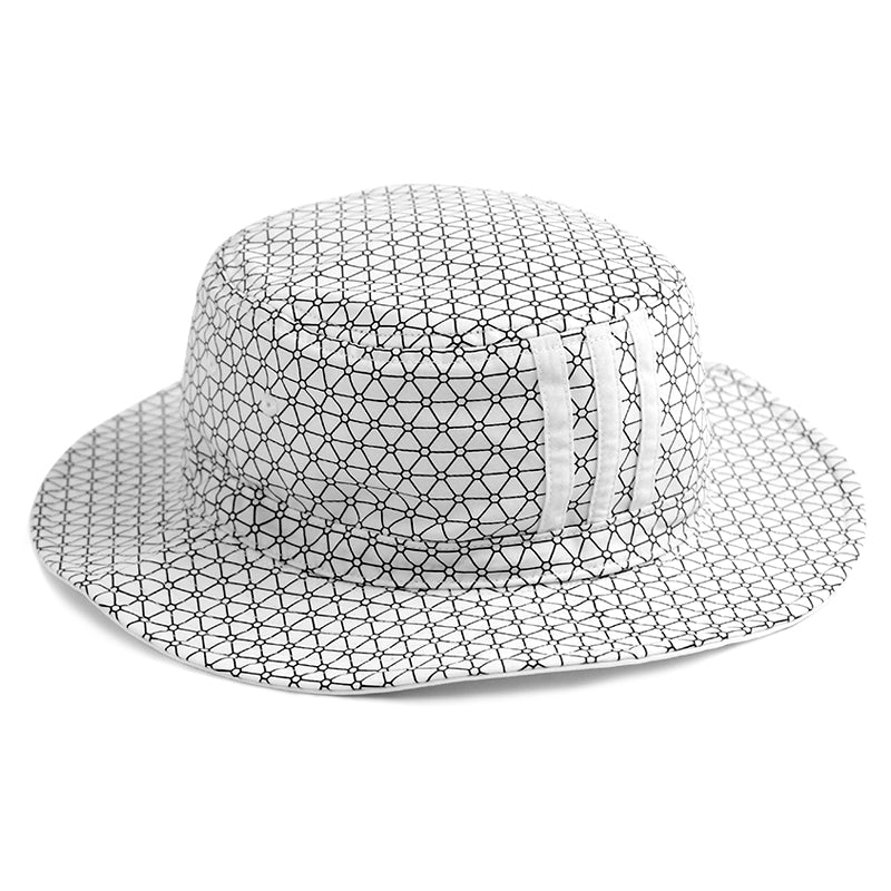 Adidas x Palace Bucket Hat in White - Reverse