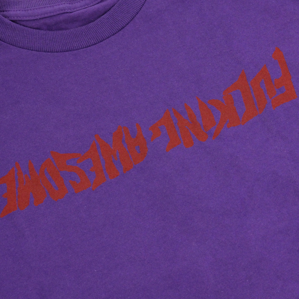 Fucking Awesome Inverted Logo T Shirt in Purple - Print