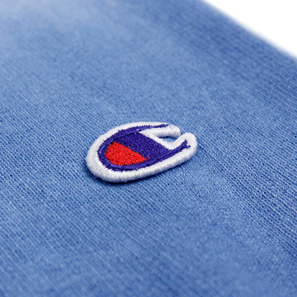 Champion Dip Dyed Classic Crew Neck Sweatshirt in Navy / White / Blue - Detail