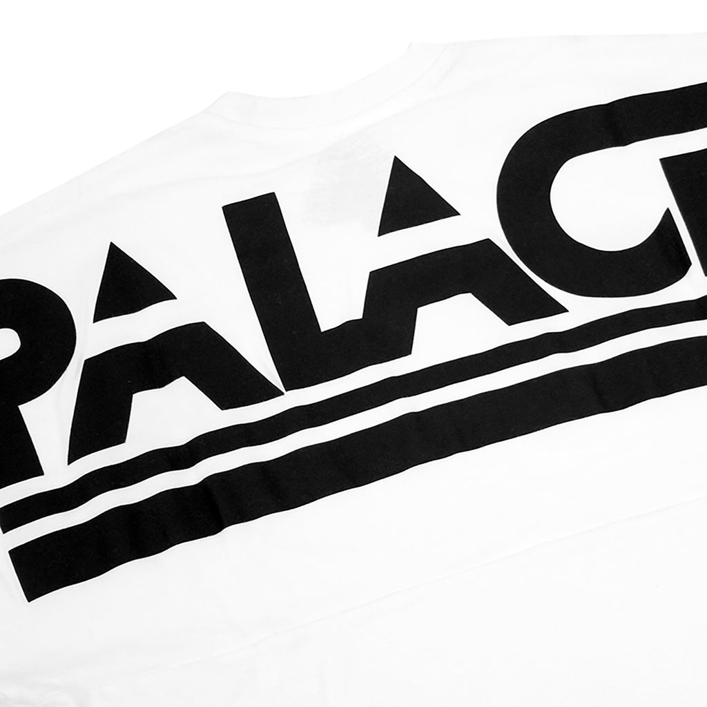 Palace Lightweight Crew Sweatshirt in White - Back print
