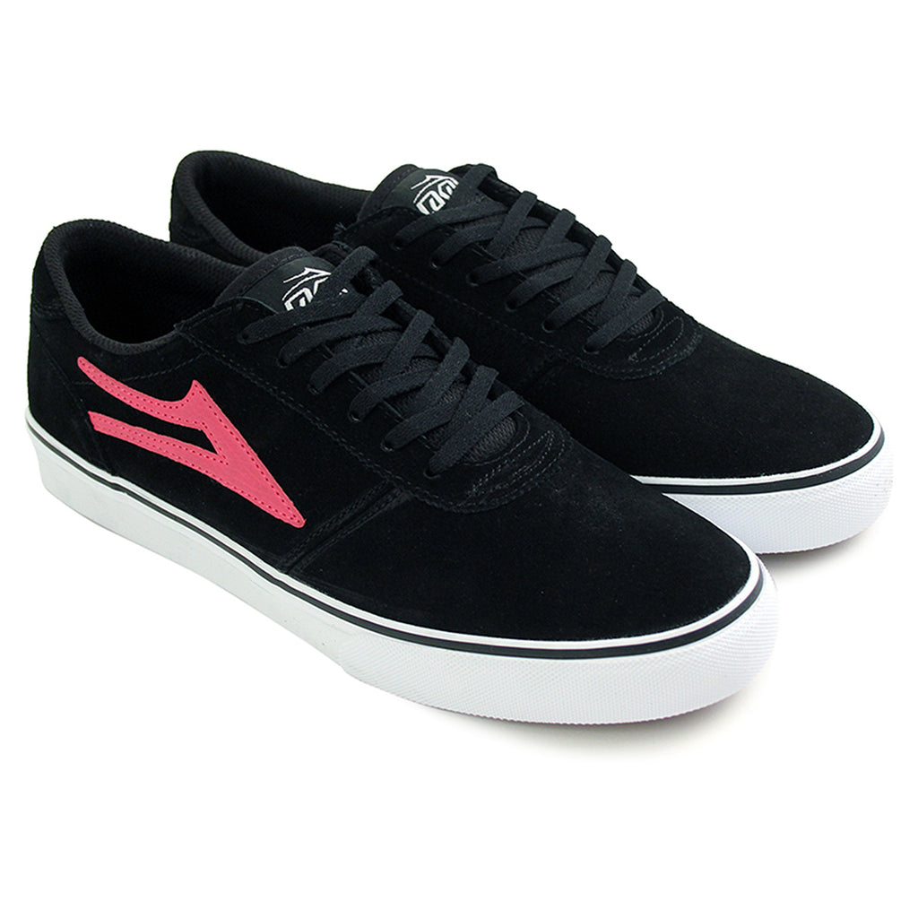 Lakai Manchester McCrank (Anchor) Shoes - Black/Pink - Pair