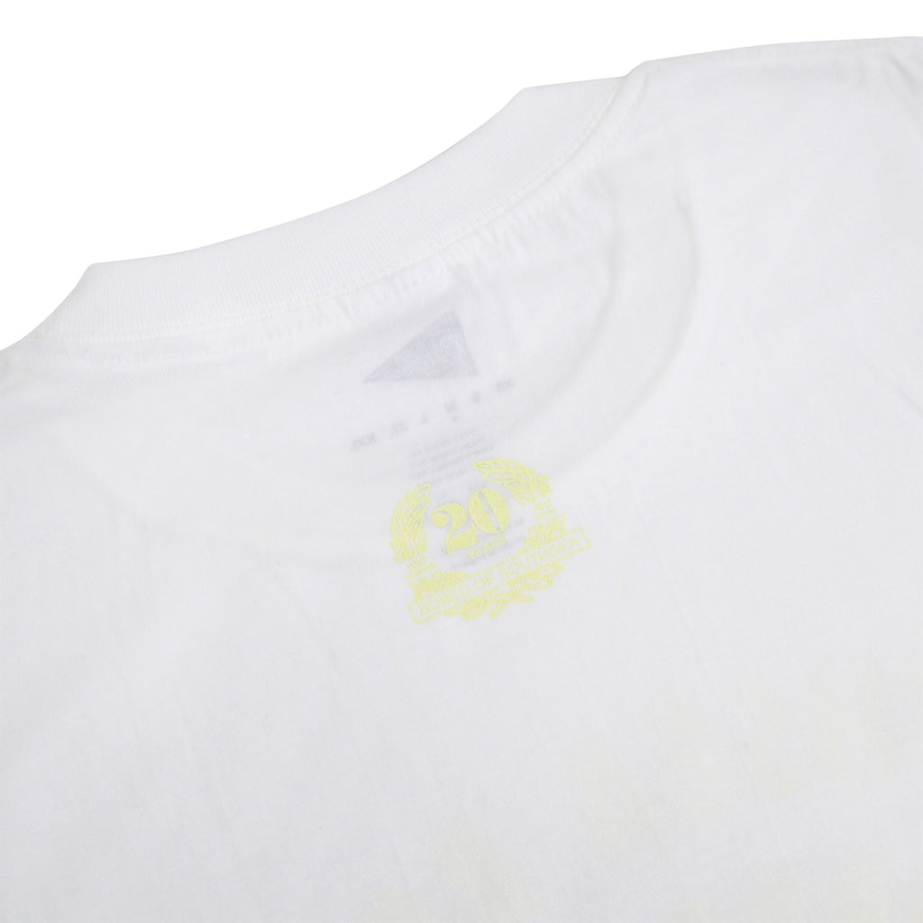 Southsea Bronx Strong Island T Shirt in White / Pastel Yellow - Back Print