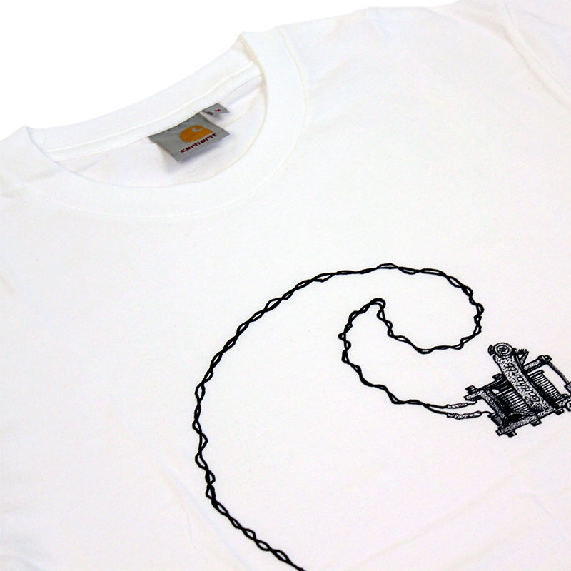 Carhartt Tattoo T Shirt in White - Detail