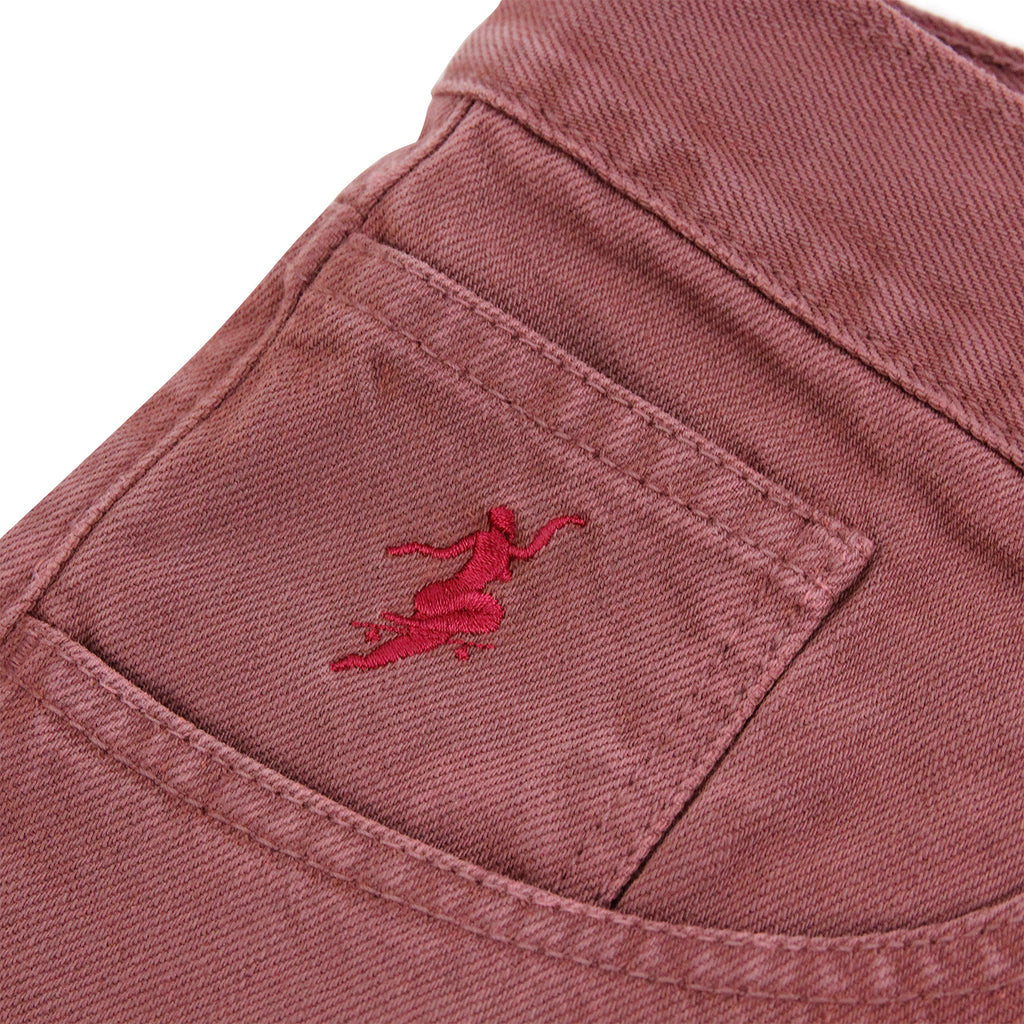Polar Skate Co 90's Jeans in Washed Red - Embroidery