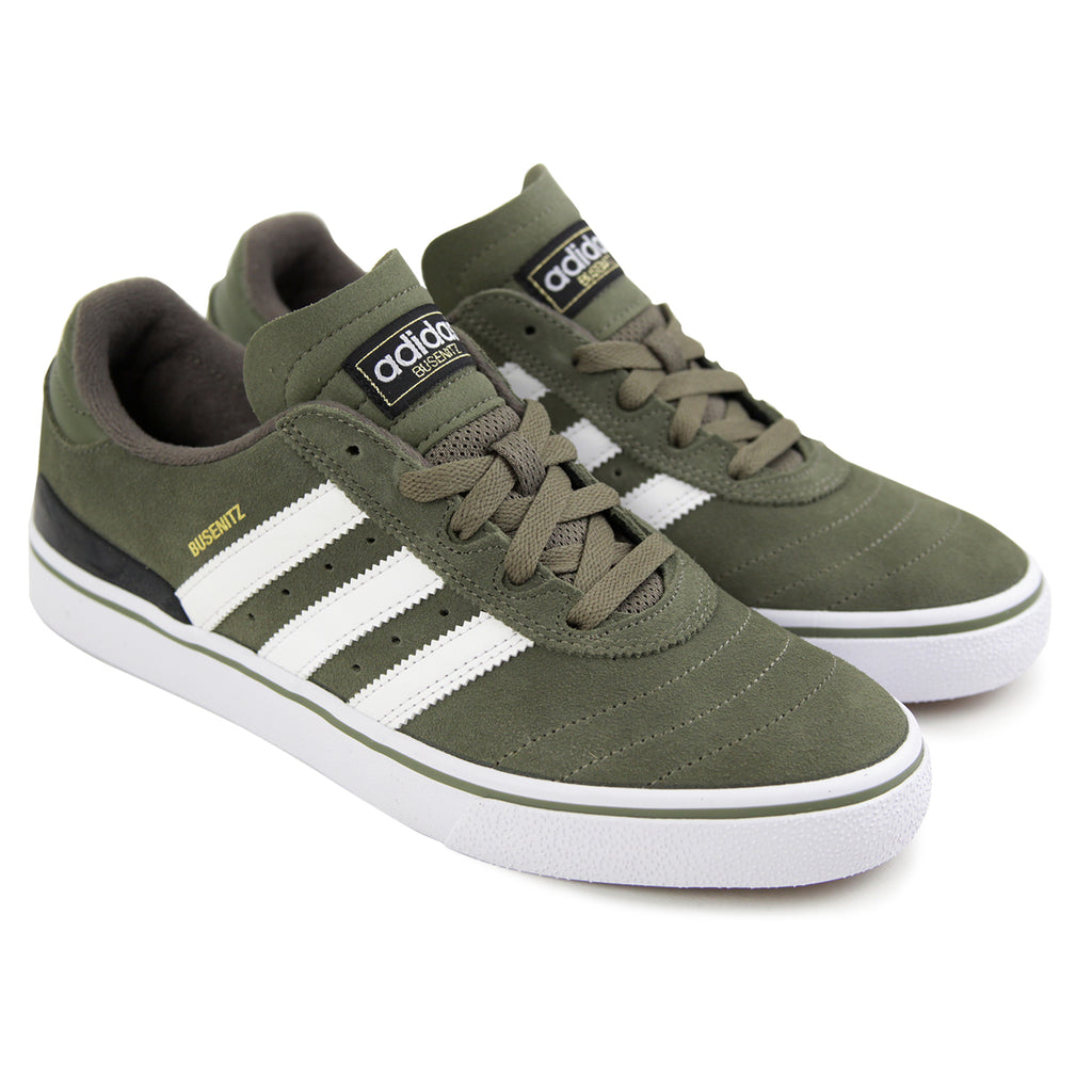 Adidas Busenitz Vulc Shoes in Olive Cargo / White / Core Black - Pair