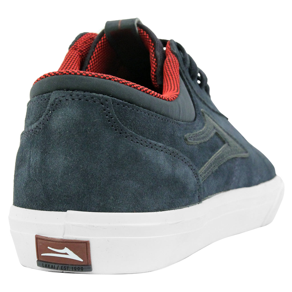 Lakai Griffin Suede Shoes in Midnight - Heel