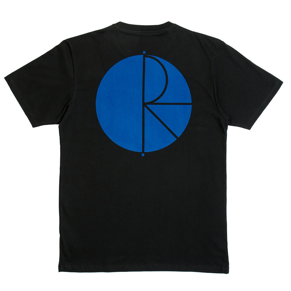 Fill Logo T Shirt in Black / White / Blue by Polar Skate Co