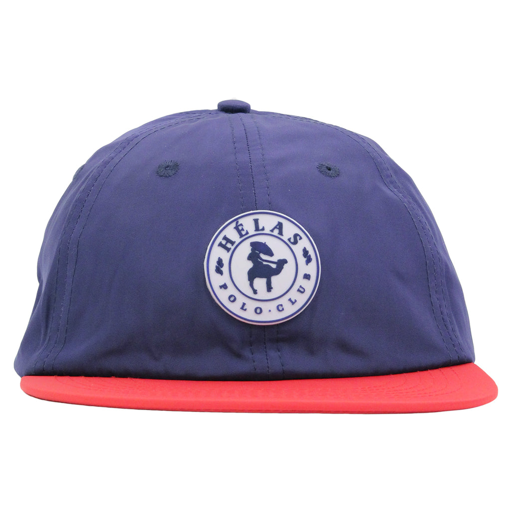 Helas Polo Club 6 Panel Cap in Navy / Red - Front