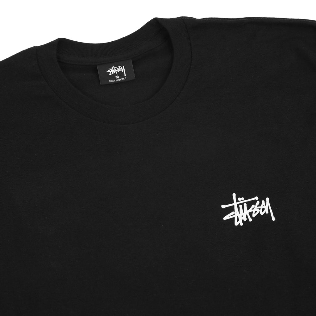Stussy L/S Pin Up T Shirt in Black - Detail