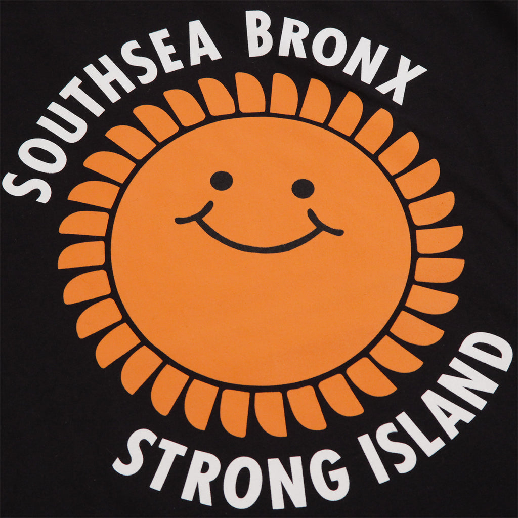 Southsea Bronx Strong Island T Shirt in Black - Print