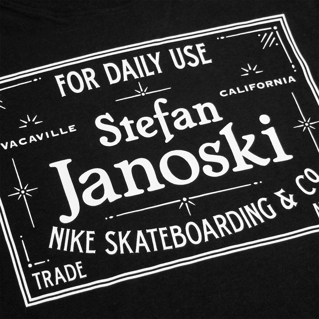 Nike SB Dri-Fit Janoski Label T Shirt in Black / White - Print