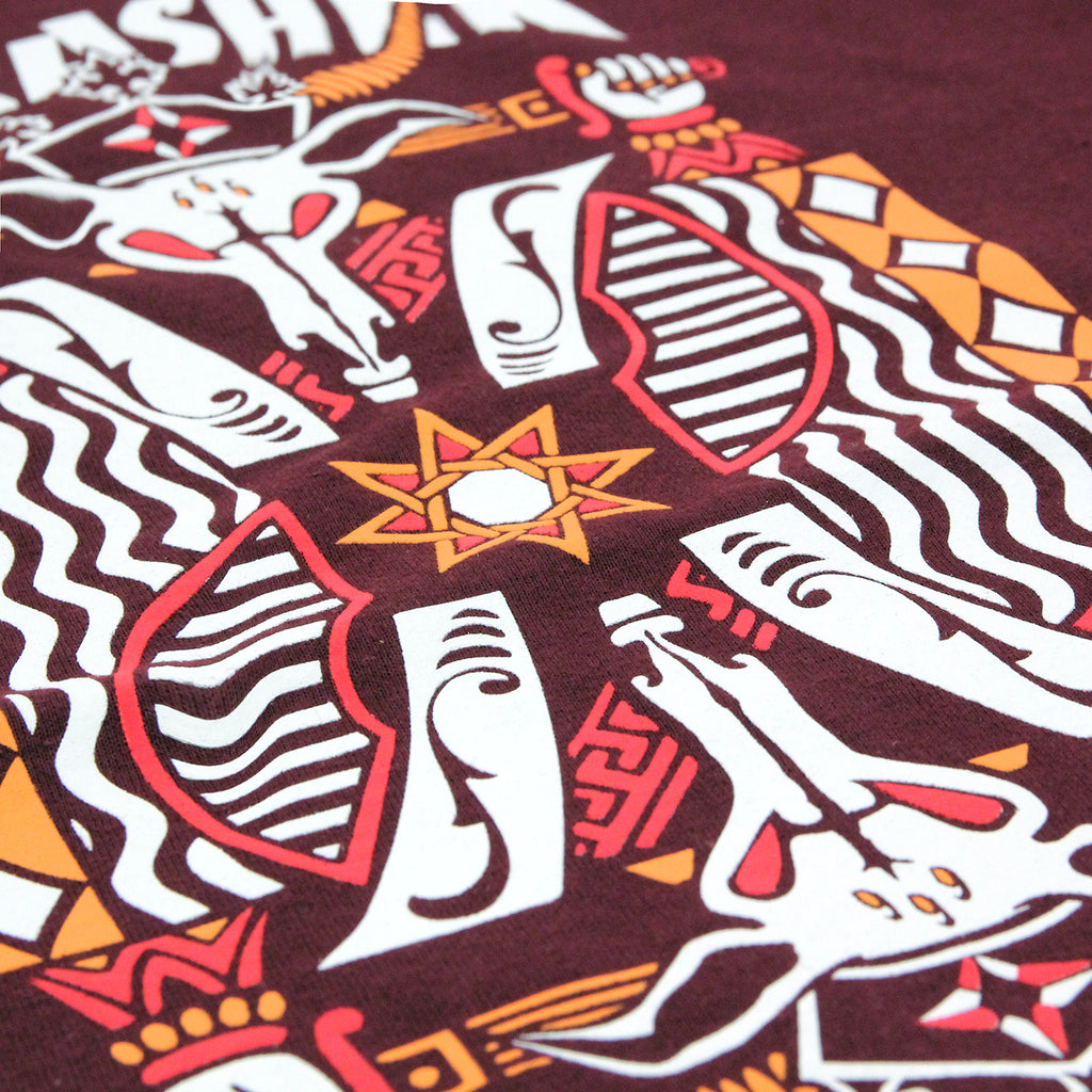 Thrasher King Of Diamonds T Shirt in Maroon - Print