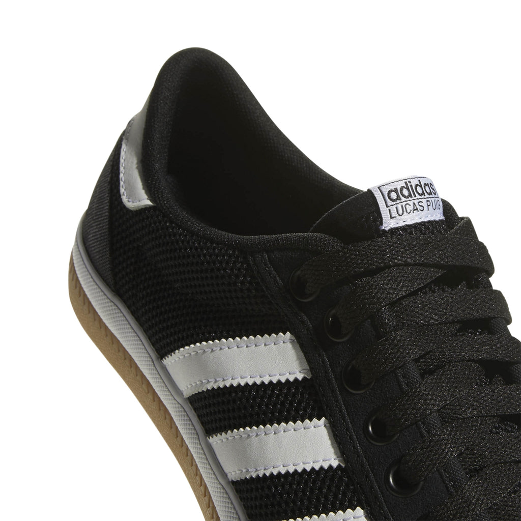 Adidas Lucas Premiere Shoes in Core Black / Footwear White / Gum - Detail 2