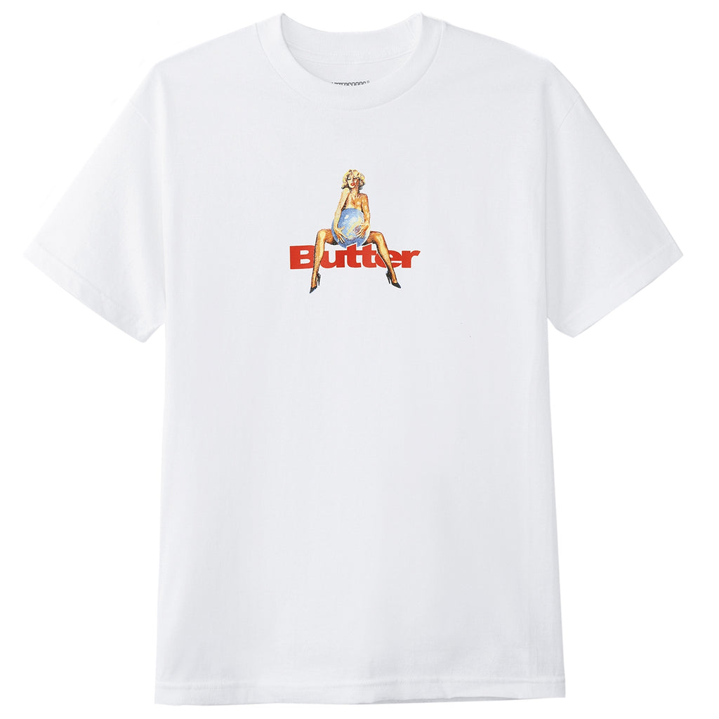 Butter Goods World Love T Shirt in White