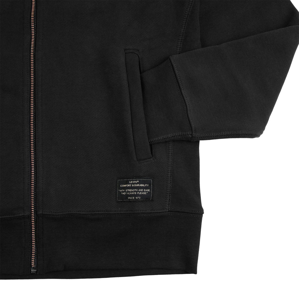 Levis Skateboarding Full Zip Hoodie in Jet Black - Pocket