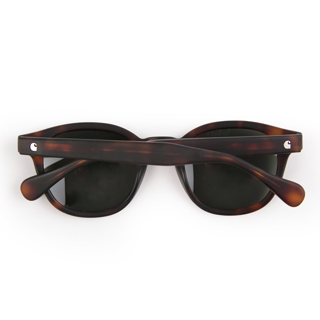 Carhartt Windsor Sunglasses in Tortoise Matte / Green - Back